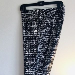 Black and white dress pants size 12